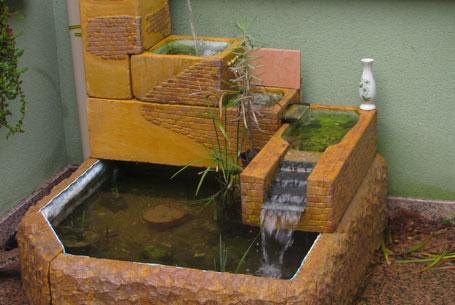Fontaine en béton cellulaire