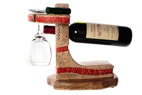 Porte bouteille en béton cellulaire